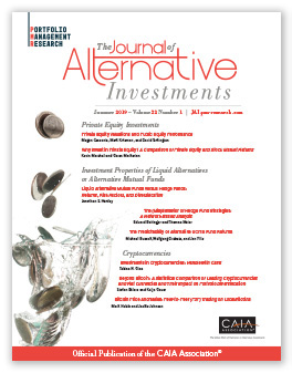 Cover image of the Journal of Alternative Investments